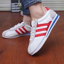 韩版公主范糖果色平跟帆布鞋跑步鞋休闲鞋女鞋平底单鞋系带运动鞋 价格:52.00