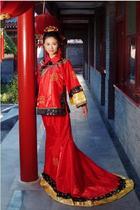 红嫁衣 影楼古装 新娘服装 喜庆装 价格:160.00