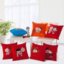 可爱小破孩系列抱枕 短毛绒 卡通抱枕套 45 45 含芯 F1 价格:49.00