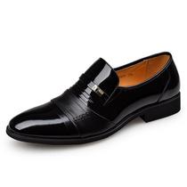 耶纳诺.啄木鸟 商务正装结婚鞋 黑色真皮皮鞋 尖头鞋子男鞋19839 价格:198.00