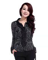 代购专柜正品哥弟女装2013新款女式春秋长袖衬衫GA37207E46411-0 价格:138.00