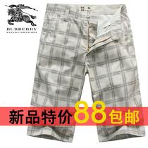 巴宝莉短裤男burberry休闲短裤 新款夏装男士时尚精品休闲短裤 价格:88.00