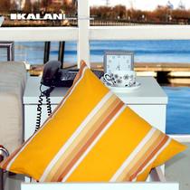 嘉蓝广美 欧式简约纯棉布艺中号沙发腰靠垫/抱枕 含靠枕芯 爱黄条 价格:44.00