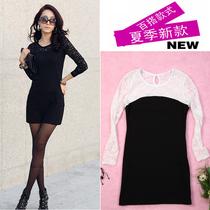 2012新品大码修身显瘦蕾丝棉连衣裙6531 价格:50.00