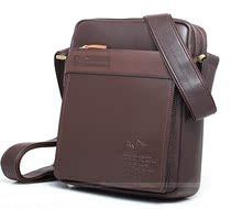 袋鼠专柜正品时尚单肩包2013新款斜挎包人气休闲韩版品牌牛皮男包 价格:188.00