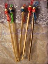 【海象家】超实用精制 竹质挖耳勺 可爱的木质中国娃娃挖耳勺 价格:0.50