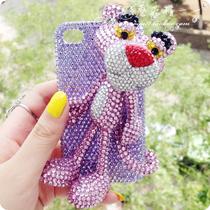 礼物 iphone5s 4s手机壳罗志祥海派甜心达浪粉红顽皮豹水钻外壳 价格:105.00