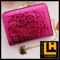 新款2013 Hello Kitty短款钱包 正品时尚亮面压花 儿童卡通皮钱夹 价格:58.00