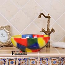 地中海风格 特价包邮艺术台盆-洗脸盆-面盆-洗手盆-台上盆-七彩球 价格:168.00