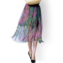 真丝半身裙 精品桑蚕丝服装 轻盈飘逸 淡馨香 气质美 真丝中裙 双 价格:133.20