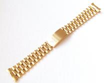 手表配件  英纳格机械表专用镀钛金实芯钢带20mm(弧耳)  男款 价格:95.00