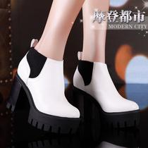 单根秋鞋厚底女单鞋品牌女鞋2013新款秋鞋欧美女款粗跟鞋上新单鞋 价格:188.00