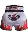 """泰国品牌 TWINS泰拳用品蝙蝠-缎质泰拳裤.老鹰款 """"M ,L ,XL 价格:79.90"""