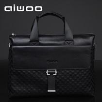 aiwoo/爱沃 真皮包 笔记本电脑包 14寸 15.6寸 男士手提商务皮包 价格:308.00