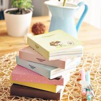 韩国文具 学生 彩页日记本 可爱糖果色多彩笔记本 妞子 记事本 价格:5.50
