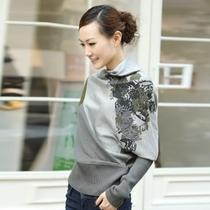品牌女装歌力思2013秋款新 哥弟正品未末红袖 蝙蝠袖针织衫毛衣 价格:167.00