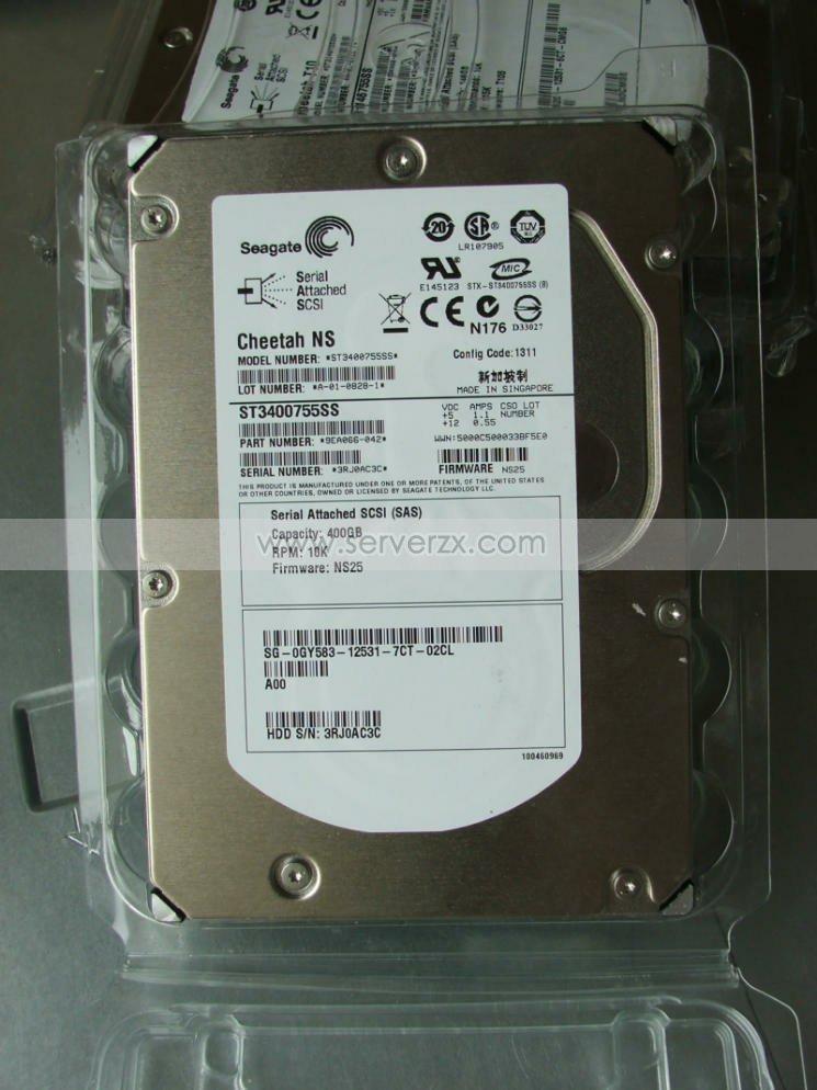 Seagate/希捷 ST3400755SS 400G 服务器 10k 3.5寸 SAS硬盘 价格:580.00