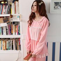 春秋季包邮少女韩版家居服糖果色公主可爱睡衣套装长袖纯棉质女款 价格:58.00