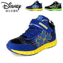 包邮 迪士尼童鞋 冬季儿童篮球鞋 牛皮运动鞋 高档橡胶防滑旅游鞋 价格:156.00