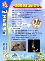 313电工海报展板电工110世界无烟日 吸烟对妇女的危害 价格:4.90