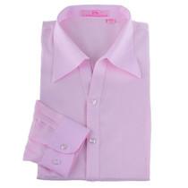 超值分享 工作服首选 V领圆摆 粉条纹女工装 OL衬衫(定做可绣花) 价格:39.00