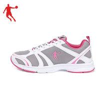 乔丹新款舒适女款运动跑鞋OM4230299浅灰白色紫防滑橡胶跑步鞋 价格:163.90