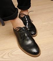 低调的奢华韩国原单雕花冲孔韩版英伦雅痞布洛克风格低帮鞋皮鞋男 价格:218.00
