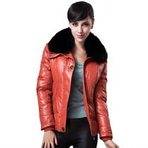 包邮 冬款正品北极绒羽绒服女 短款修身欧美狐狸毛领 时尚羽绒服 价格:462.40
