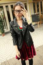 【小绿】2013新款 机车款皮衣(非真皮) 外套女 短外套 女装 价格:79.00