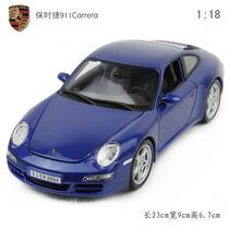保时捷车模1:18保时捷911卡雷拉S Carrera 蓝色 合金汽车模型 价格:218.00
