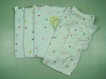 香港润邦 薄款夏天婴儿内衣莫代尔提花印花肩钮扣套2521 价格:27.00