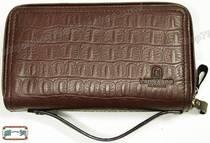 意大利名牌LEONARDO利奥纳多(老人头)进口牛皮双拉链手包6712 价格:290.00
