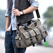 男包斜挎包单肩包休闲包帆布包学生包新款韩版手提包 旅行包包 价格:80.00