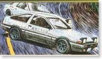 【恒辉模型】富士美汽车模型 1/24 Initial  AE86  头文字D 18321 价格:108.00