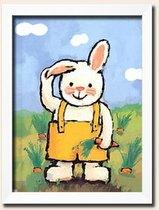 冲钻特价 儿童房间装饰画有框无框卡通画挂画壁画 可爱兔兔 价格:25.00