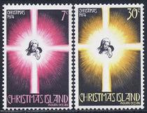圣诞岛1974,圣诞节2全新,母与子CV$3 MNH! 价格:10.00