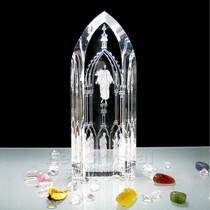 基督教天主教 宗教水晶工艺品 耶稣基督摆件礼品 大教堂 包邮 价格:229.60