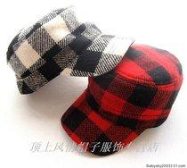 ●皇冠帽子店●外贸原单NOABAT儿童平顶帽●毛昵格子两色52 价格:28.00