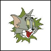 猫和老鼠-猫 十字绣图 重绘图纸 XSD源文件 绣图有线量 皇冠信誉 价格:1.00