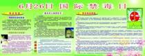 210海报建材5038 6.26国际禁毒日毒品危害戒毒常识常见毒品种类 价格:3.00