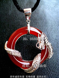 May Day Gifts physical store genuine onyx silver cool to take off the dragon mens necklace large