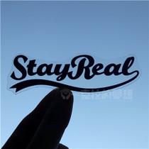 五月天阿信贴纸stayreal Logo 旅行箱贴纸电脑贴 PVC透明磨砂