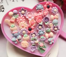 儿童戒指 可爱卡通爱心盒装小女孩生日礼物玩具公主指环戒子饰品