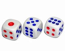 塑料骰子 游戏棋 麻将色子 骰粒 筛子 玩具甩子 酒吧ktv色粒 头子