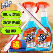 威猛先生玻璃清洁剂500g*2瓶装擦浴室淋浴房玻璃水门窗去污除垢