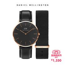 [预售]DanielWellington黑表限量礼盒套装DW手表男尼龙带礼盒装