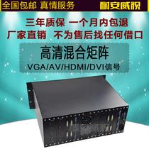 高清混合矩阵16进16出视频会议矩阵DVI AV VGA HDMI矩阵8进8出卡