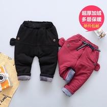男女加绒加厚婴儿冬季pp裤