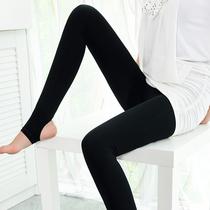 春秋女士薄款踩脚黑色打底显瘦袜