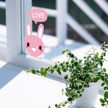 蓝瑞可移除墙贴纸 兔子 卡通笔记本贴瓷砖玻璃贴开关贴电脑贴纸画